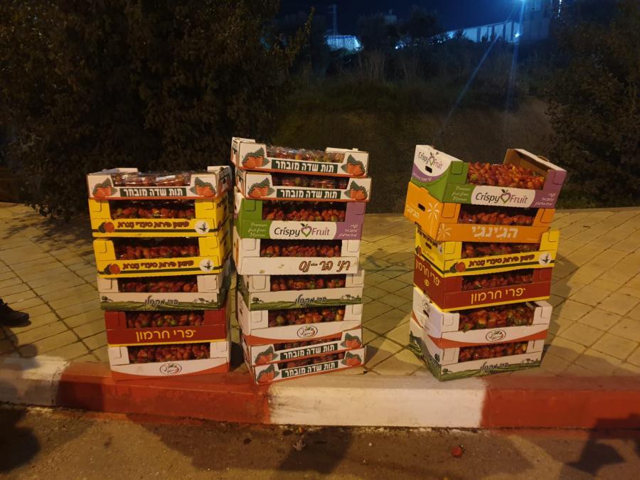 סיכול ניסיון שיווק תותים מעזה_עוטף ירושלים_ינואר 2021