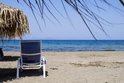 כסא כחול