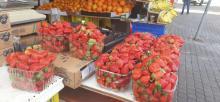 תותים מוברחים מעזה בשוק בבאר שבע